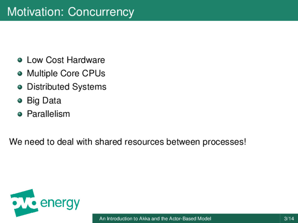 Motivation: Concurrency Low Cost Hardware Multi...