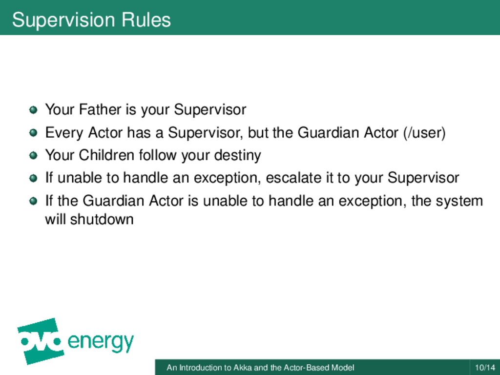 Supervision Rules Your Father is your Superviso...