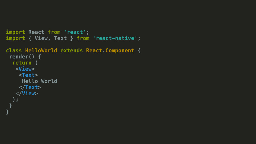 import React from 'react'; import { View, Text ...