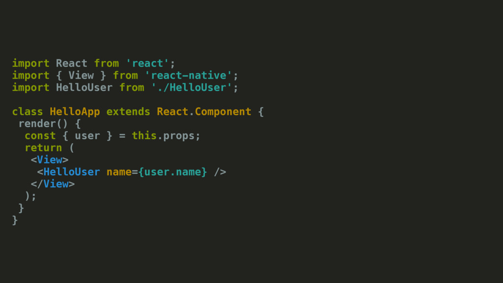 import React from 'react'; import { View } from...