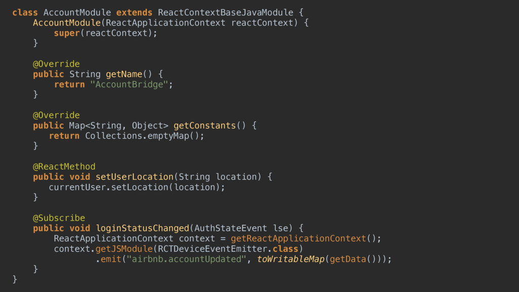 class AccountModule extends ReactContextBaseJav...