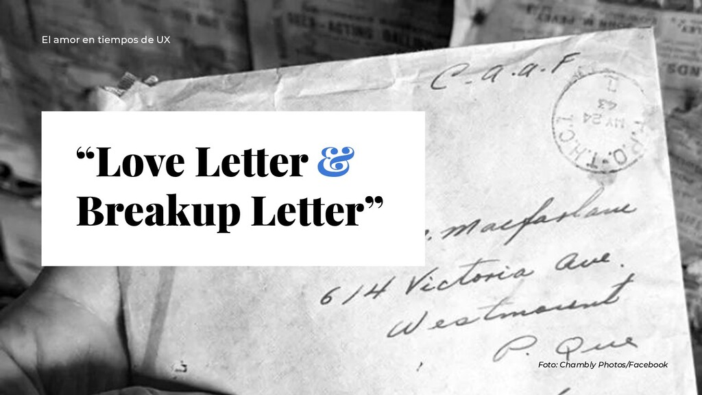 """Love Letter & Breakup Letter"" Foto: Chambly Ph..."