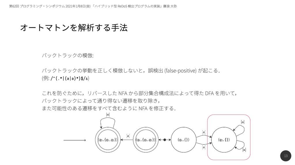 13 第62回 プログラミング・シンポジウム 2021年1月8日(金) 「ハイブリッド型 Re...