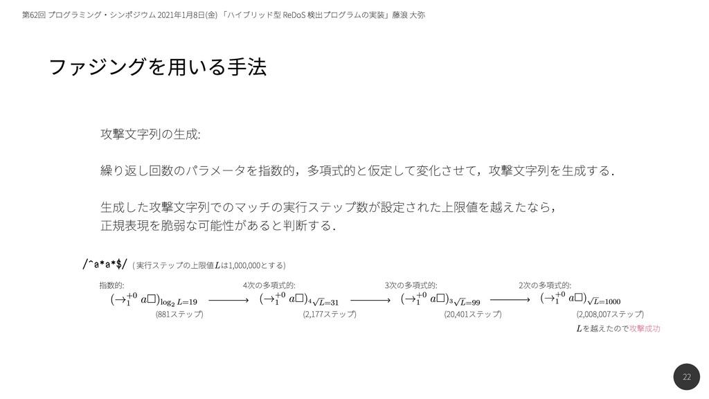 22 第62回 プログラミング・シンポジウム 2021年1月8日(金) 「ハイブリッド型 Re...