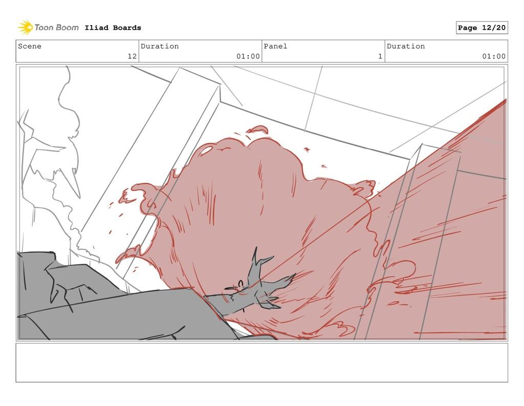 Scene 12 Duration 01:00 Panel 1 Duration 01:00 ...