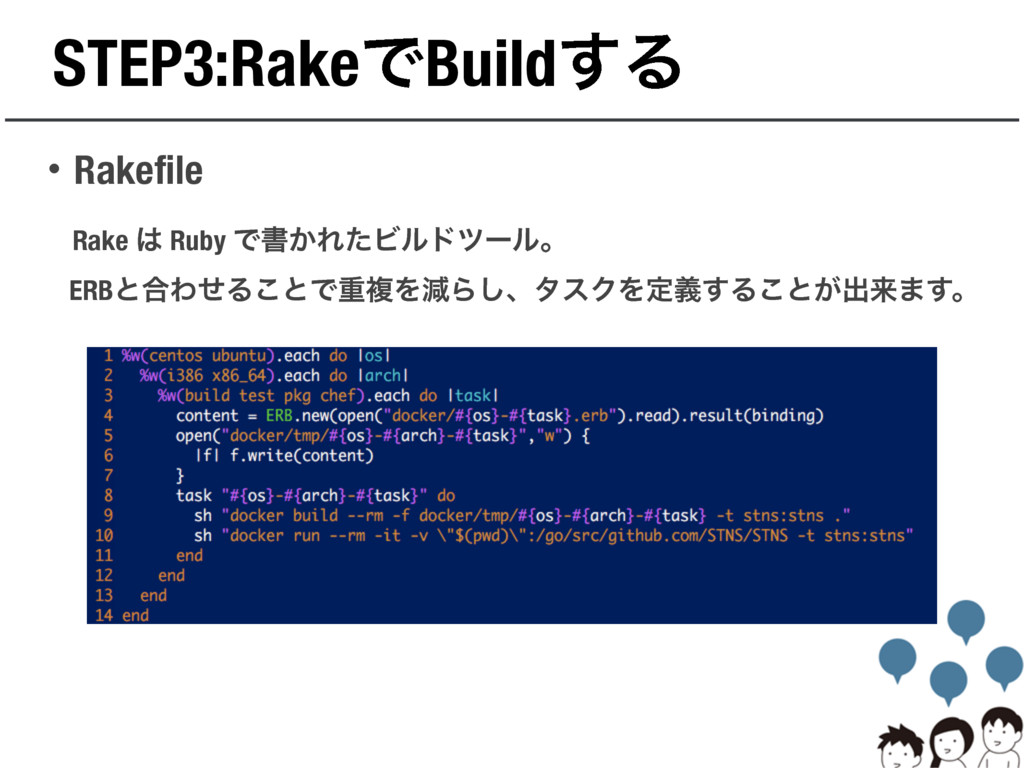 STEP3:RakeͰBuild͢Δ ɾRakefile Rake  Ruby Ͱॻ͔ΕͨϏ...