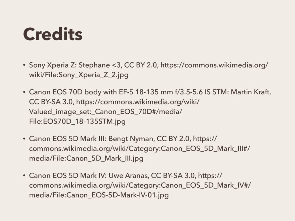Credits • Sony Xperia Z: Stephane <3, CC BY 2.0...