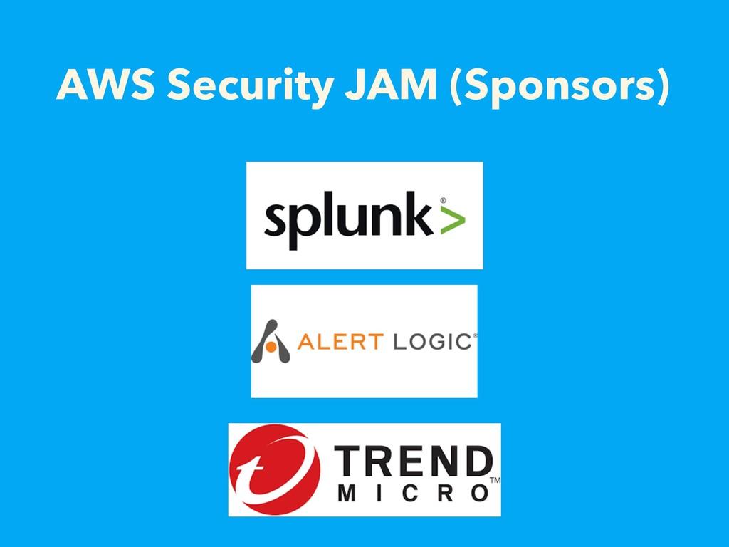 AWS Security JAM (Sponsors)