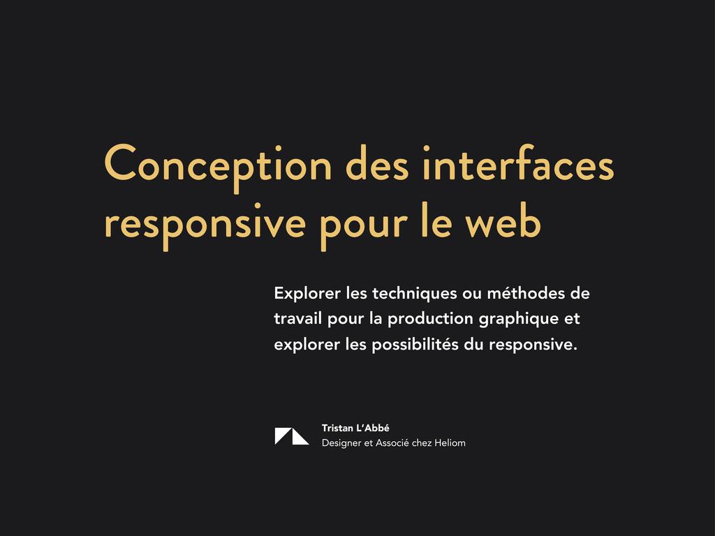 Conception des interfaces responsive pour le we...