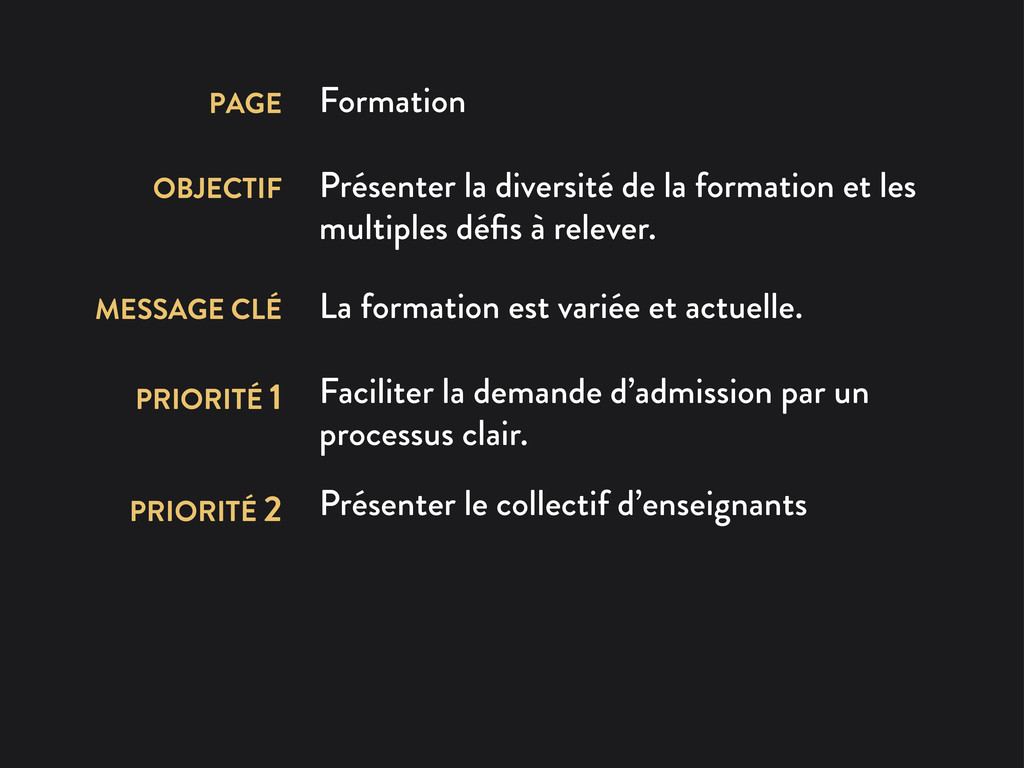PAGE Formation OBJECTIF Présenter la diversité ...