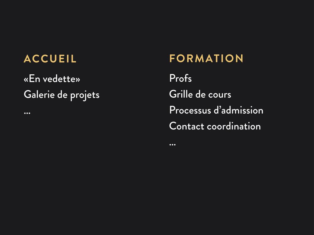 FORMATION Profs Grille de cours Processus d'adm...