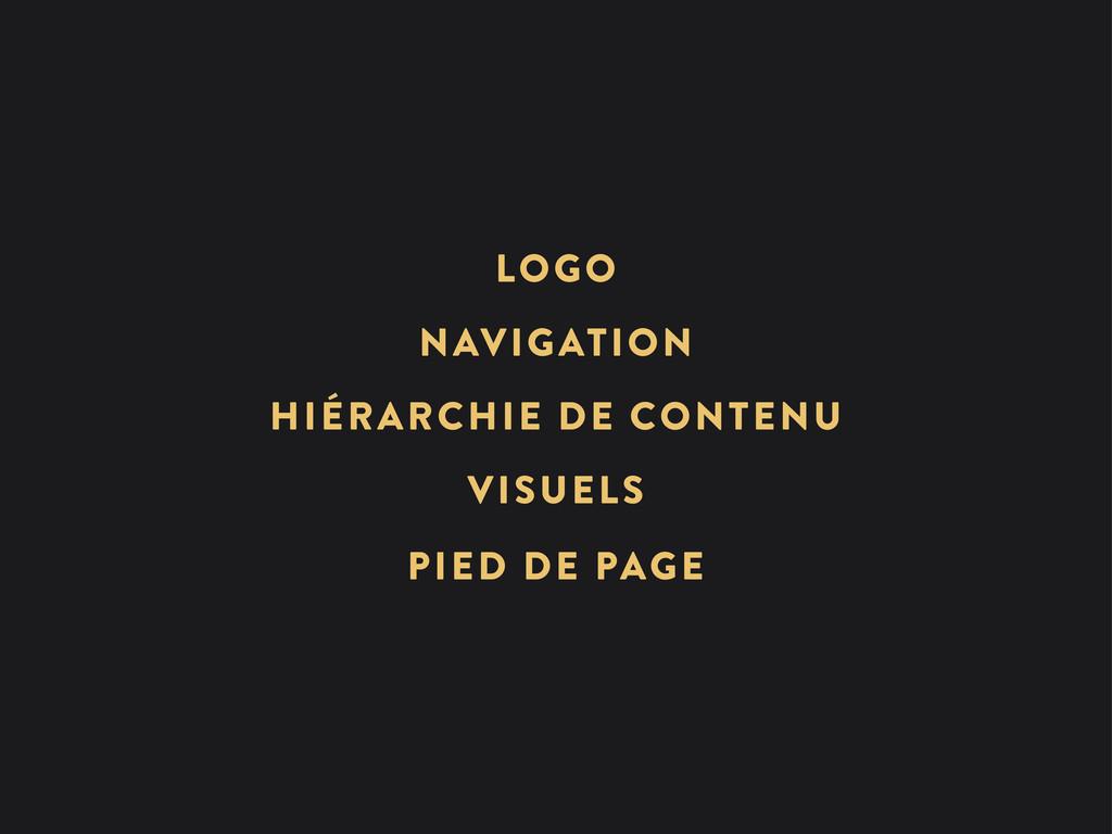 HIÉRARCHIE DE CONTENU NAVIGATION VISUELS LOGO P...