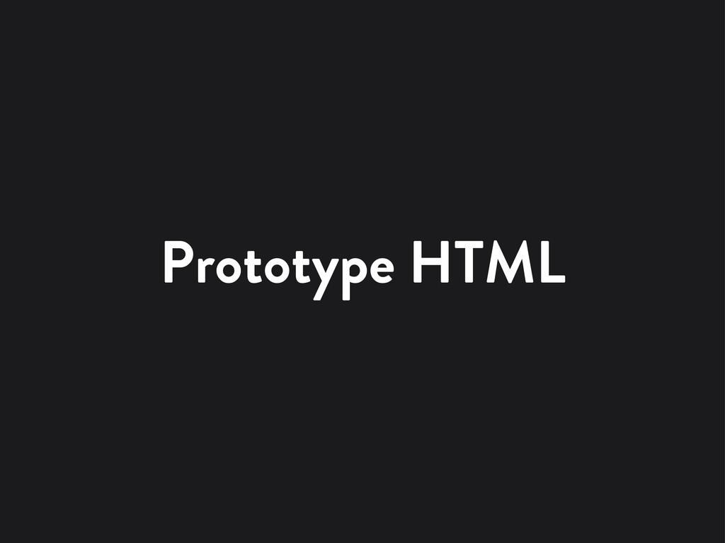 Prototype HTML