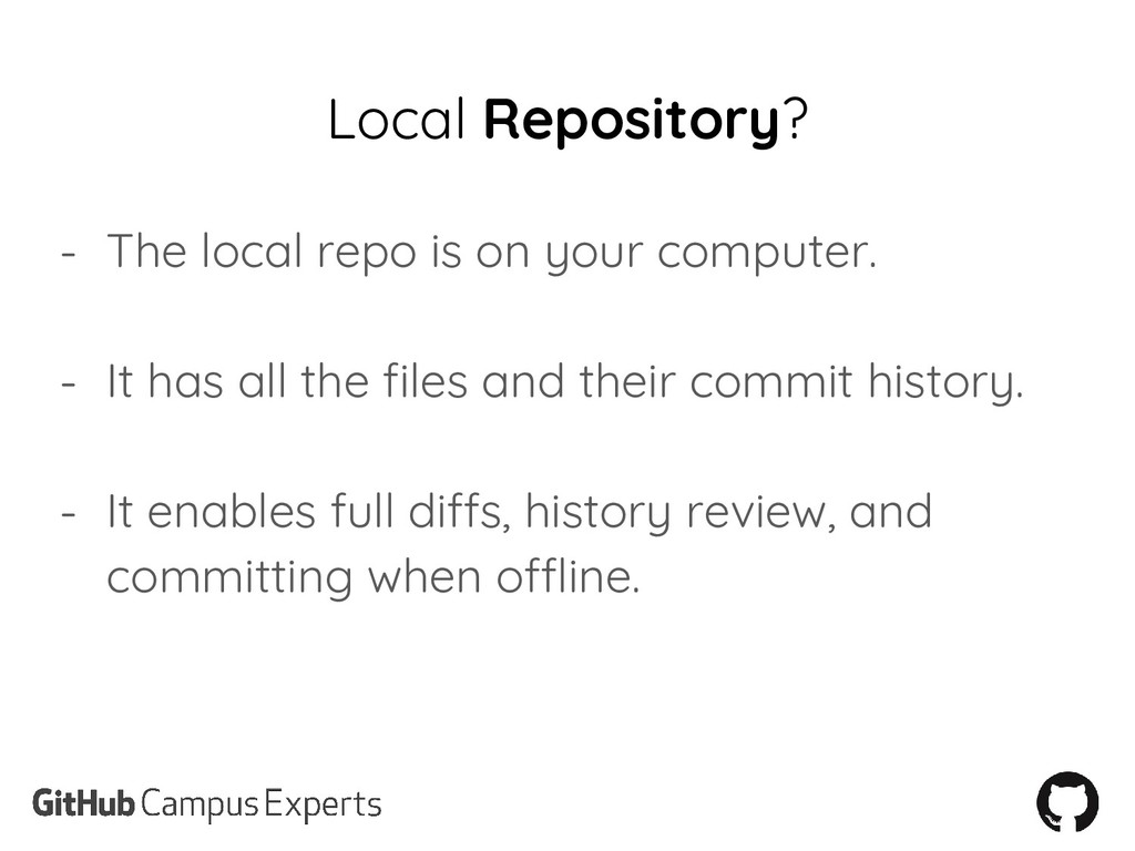 Local Repository? - The local repo is on your c...