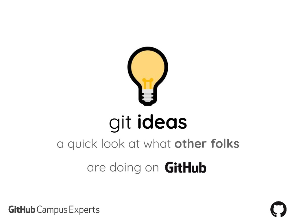git ideas a quick look at what other folks are ...