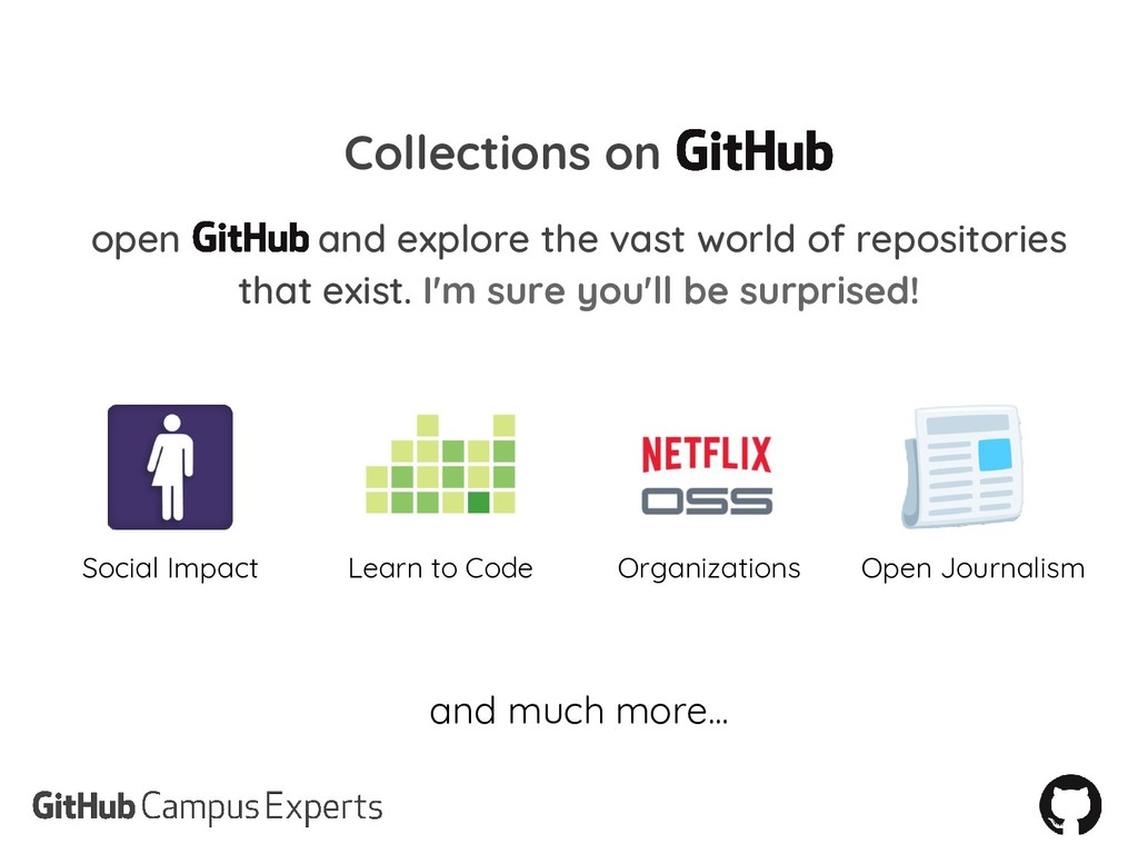 Collections on open and explore the vast world ...