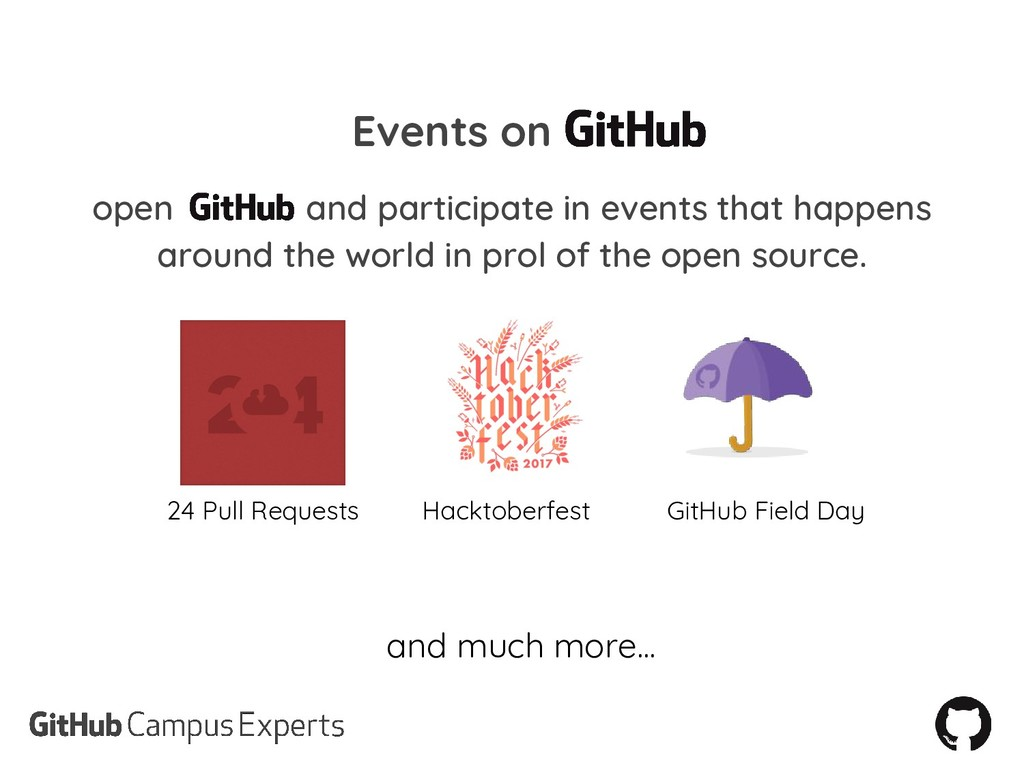 Events on open and participate in events that h...