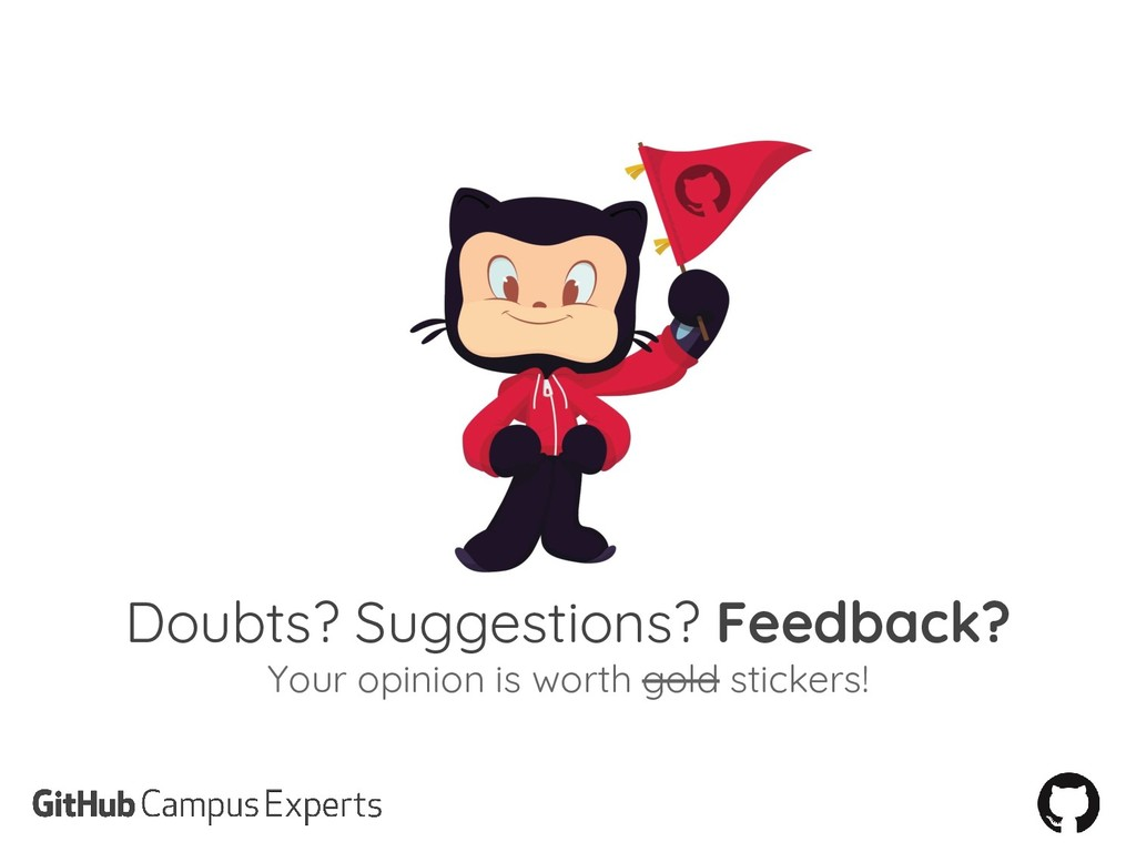 Doubts? Suggestions? Feedback? Your opinion is ...