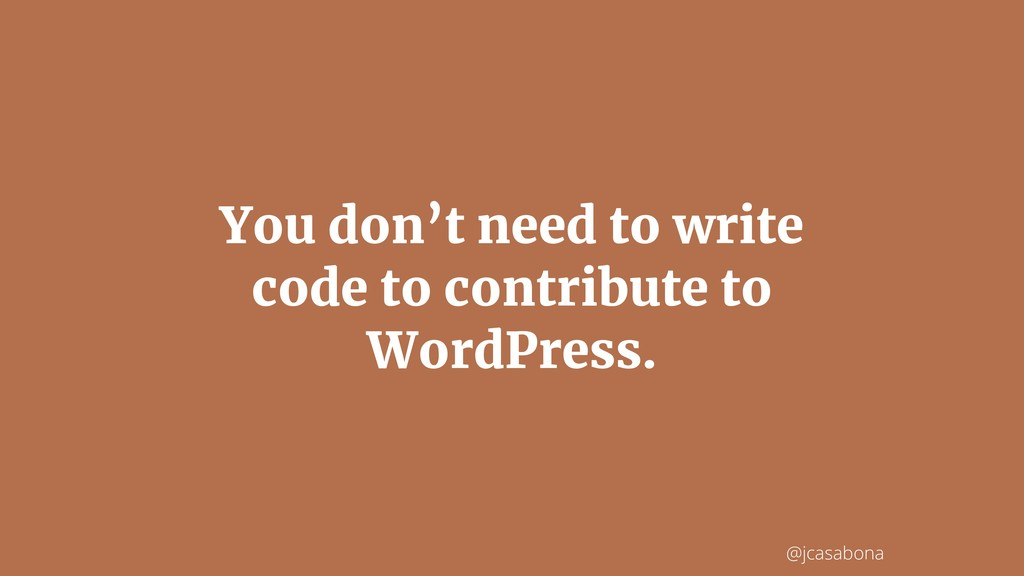 @jcasabona You don't need to write code to cont...
