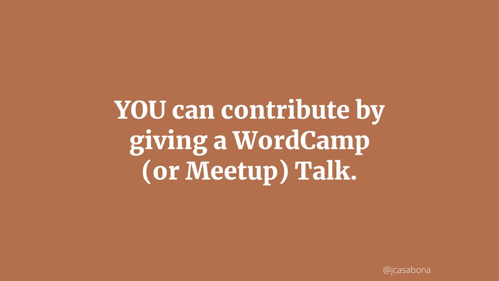 @jcasabona YOU can contribute by giving a WordC...