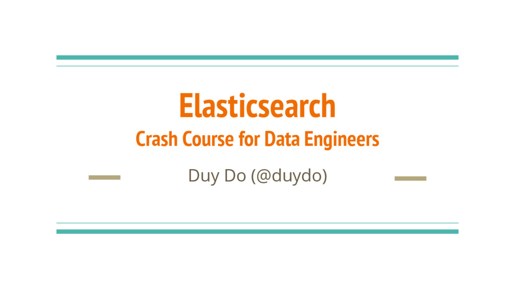 Elasticsearch Crash Course for Data Engineers D...