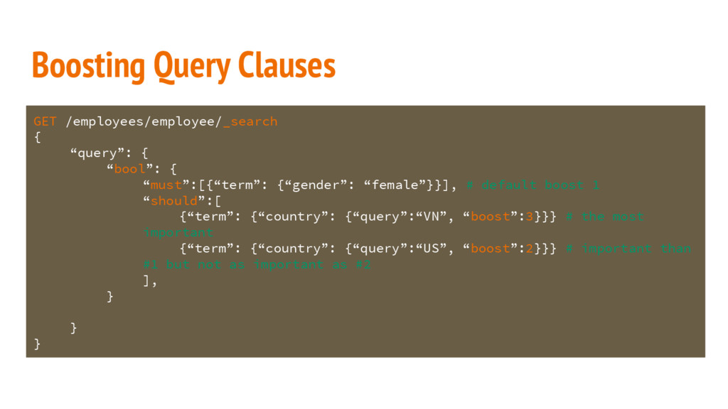 Boosting Query Clauses GET /employees/employee/...