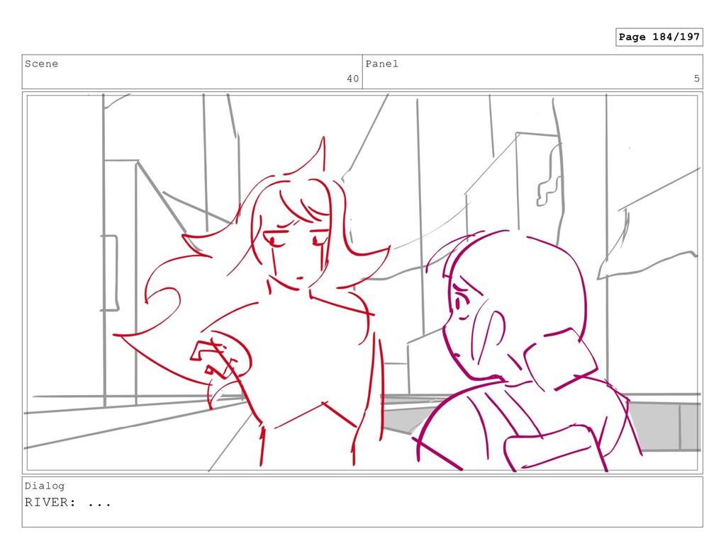 Scene 40 Panel 5 Dialog RIVER: ... Page 184/197