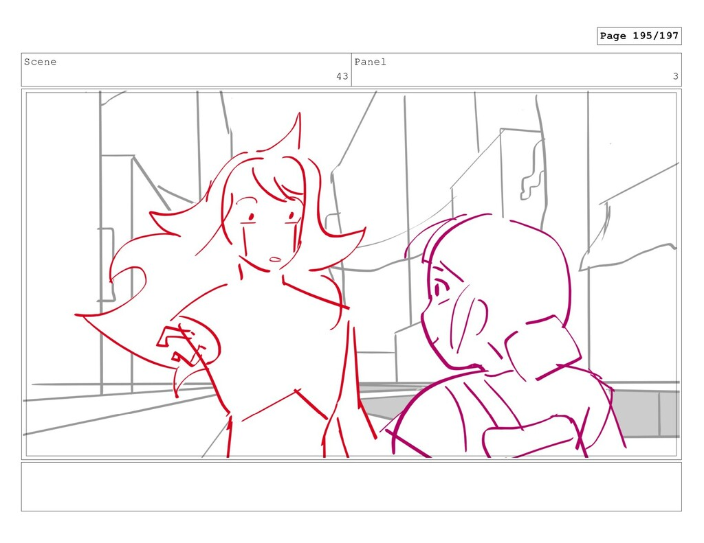 Scene 43 Panel 3 Page 195/197