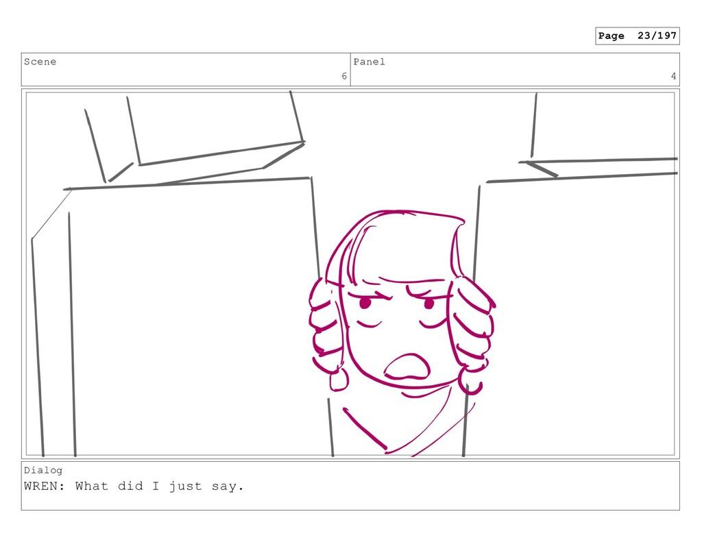 Scene 6 Panel 4 Dialog WREN: What did I just sa...