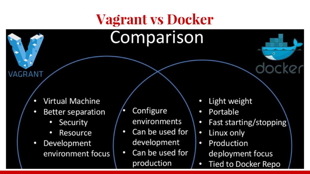 Vagrant vs Docker