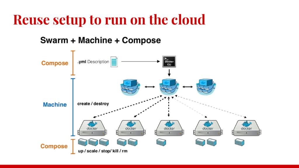 Reuse setup to run on the cloud