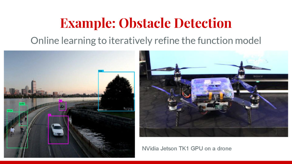 Example: Obstacle Detection Online learning to ...