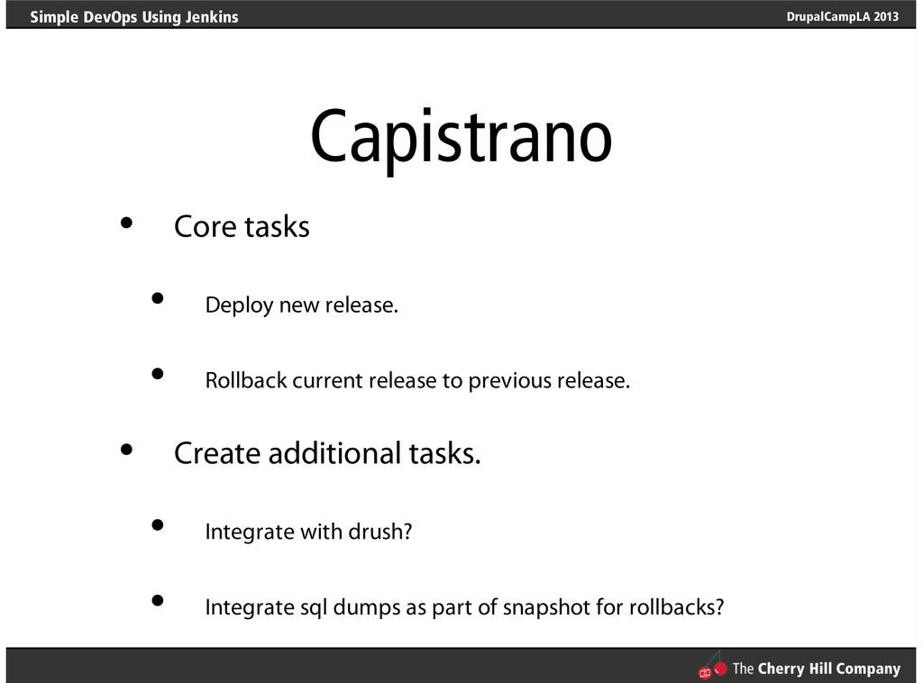 DrupalCampLA 2013 Simple DevOps Using Jenkins C...