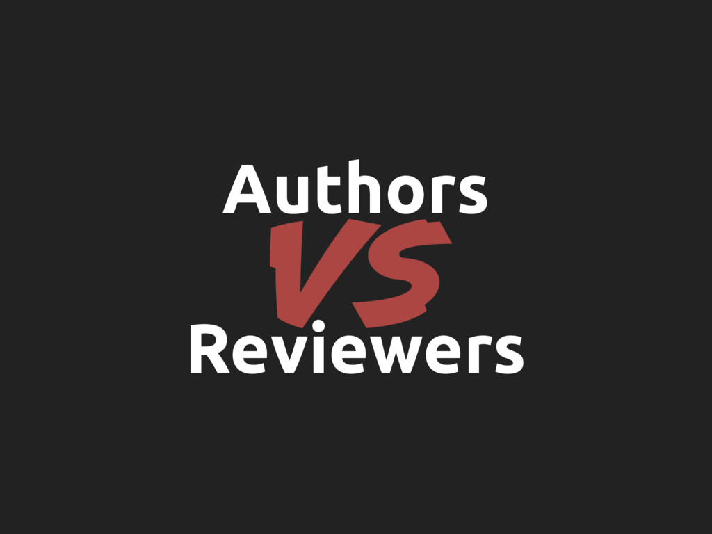 VS Authors Reviewers