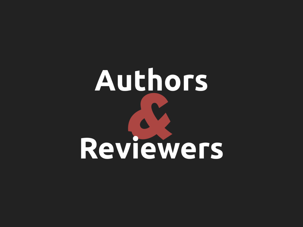 & Authors Reviewers