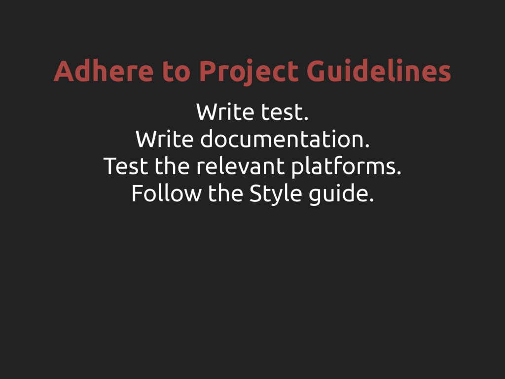 Adhere to Project Guidelines Write test. Write ...