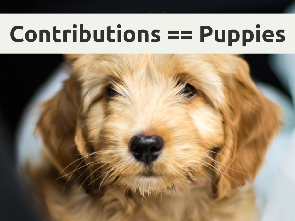 Contributions == Puppies