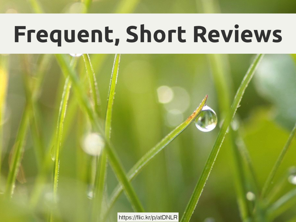 Frequent, Short Reviews https://flic.kr/p/atDNLR