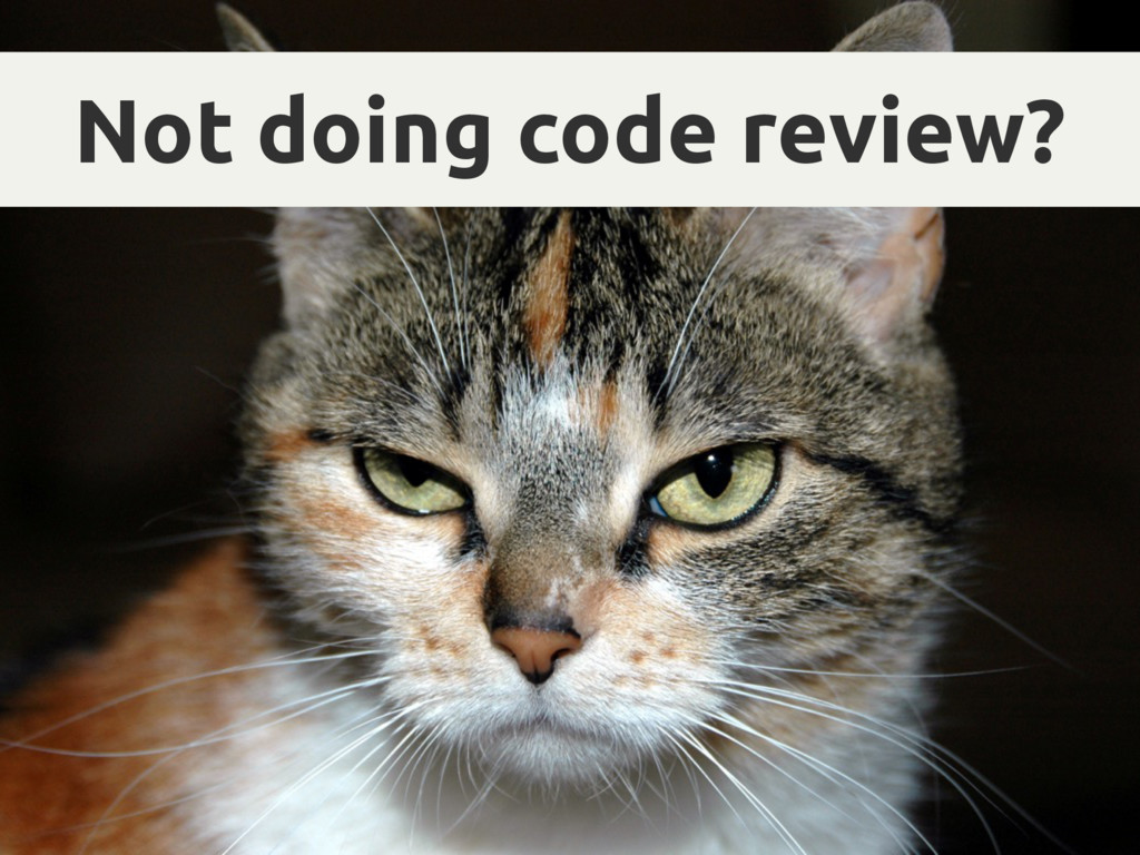Not doing code review?