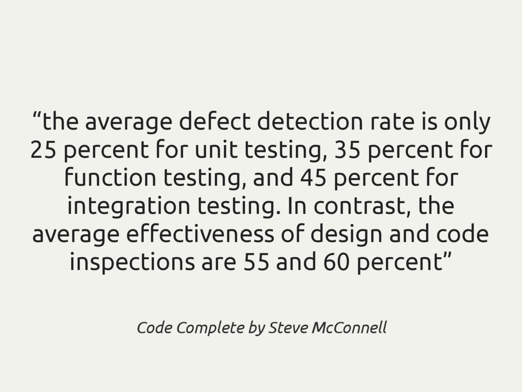 """the average defect detection rate is only 25 p..."
