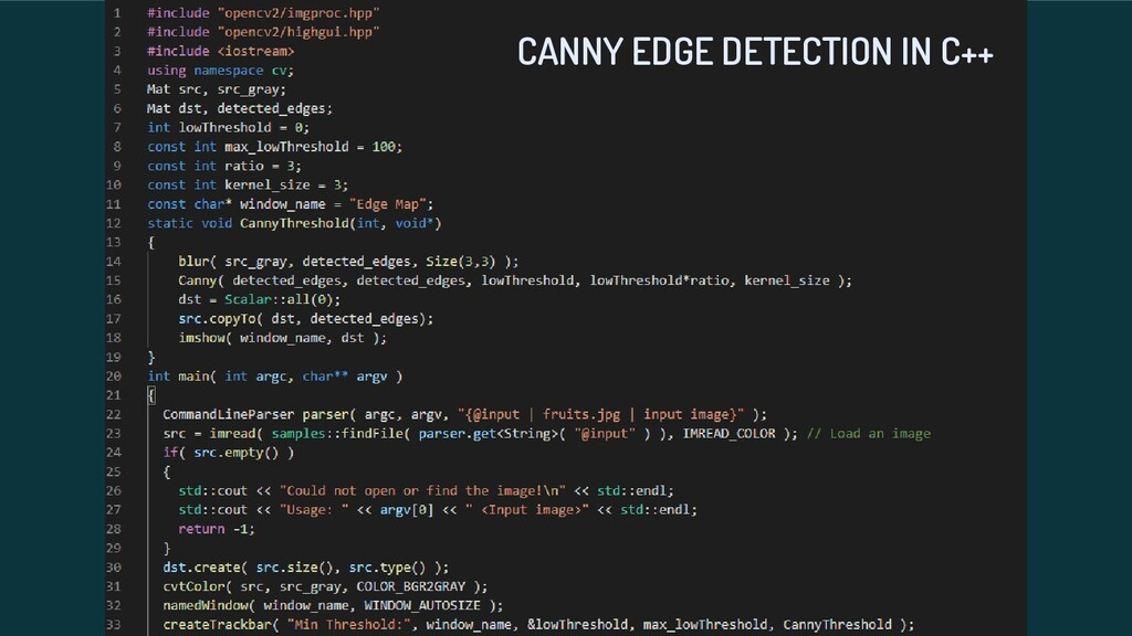 CANNY EDGE DETECTION IN C++