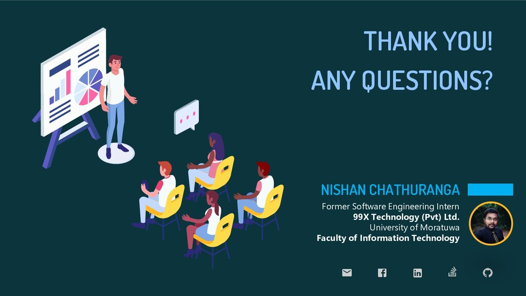 ANY QUESTIONS? NISHAN CHATHURANGA Former Softwa...