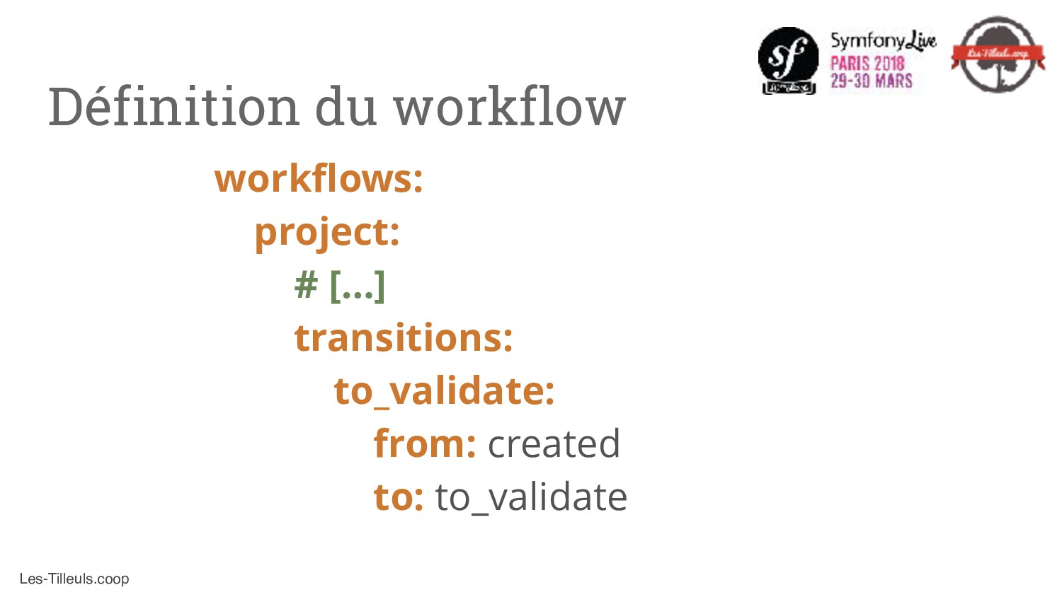 Les-Tilleuls.coop workflows: project: # […] tra...
