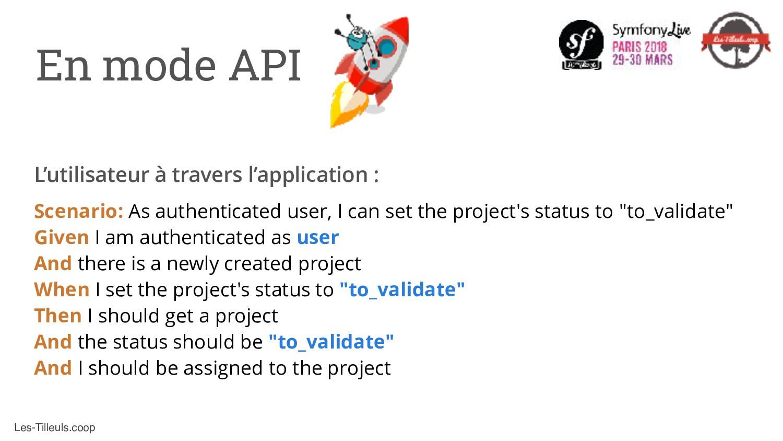 Les-Tilleuls.coop En mode API Scenario: As auth...