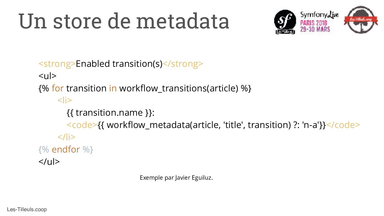 Les-Tilleuls.coop Un store de metadata <strong>...
