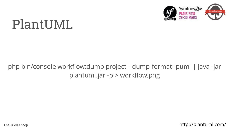 Les-Tilleuls.coop PlantUML php bin/console work...
