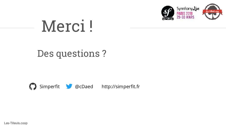 Les-Tilleuls.coop Merci ! Des questions ? @cDae...