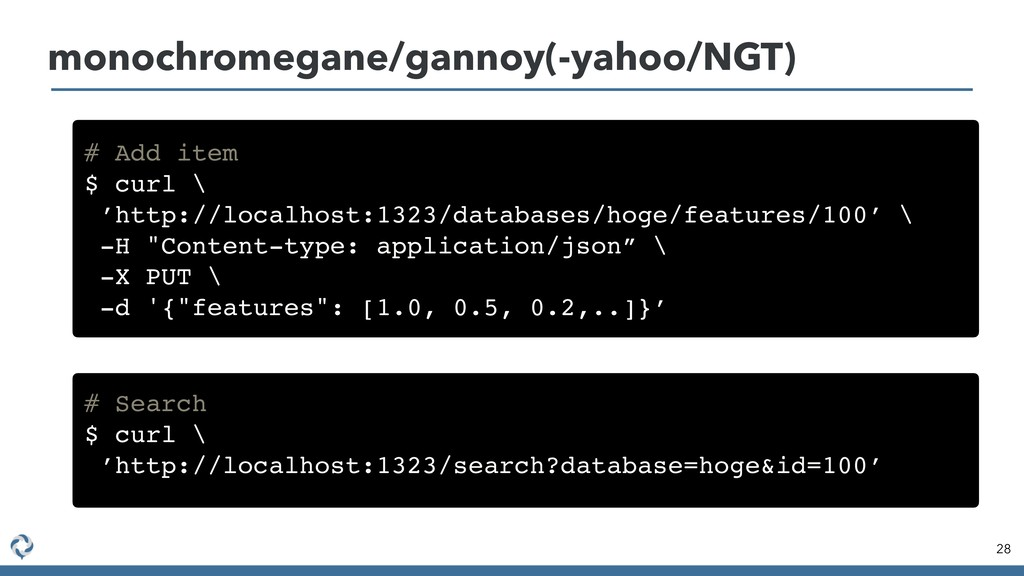 28 monochromegane/gannoy(-yahoo/NGT) # Add item...