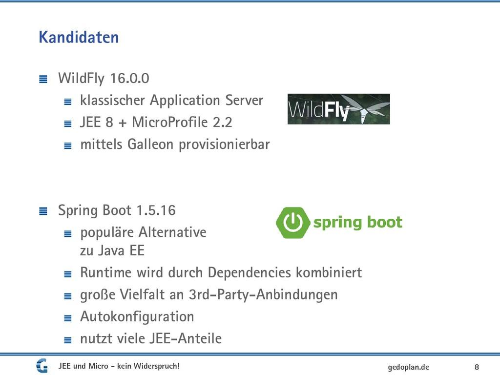 Kandidaten WildFly 16.0.0 klassischer Applicati...