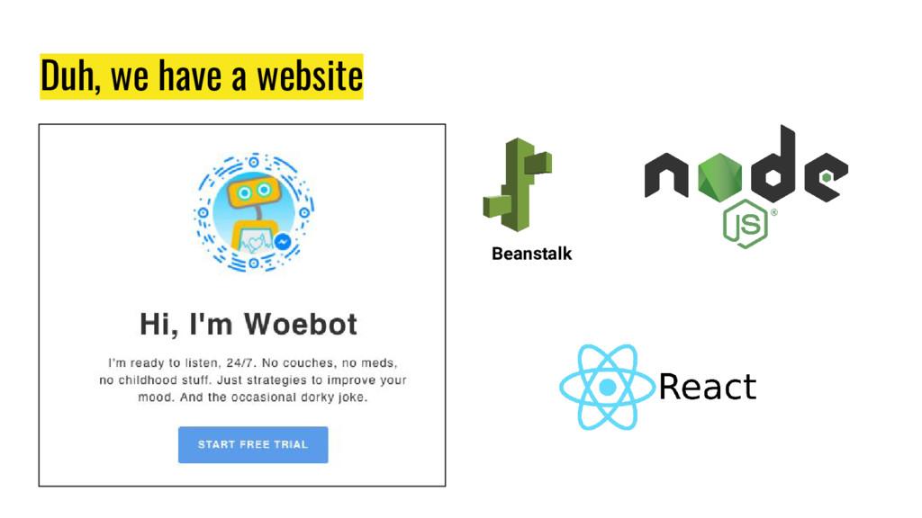 Duh, we have a website Beanstalk